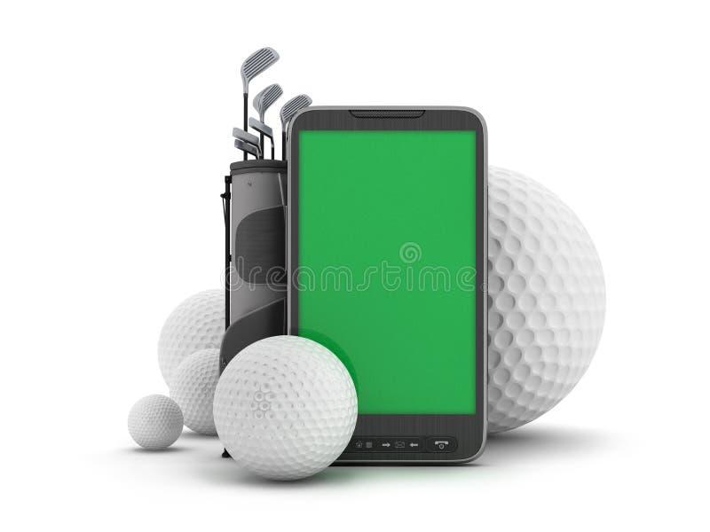 De apparatuur van het golf en celtelefoon stock illustratie