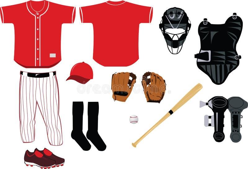 De Apparatuur van het honkbal stock illustratie