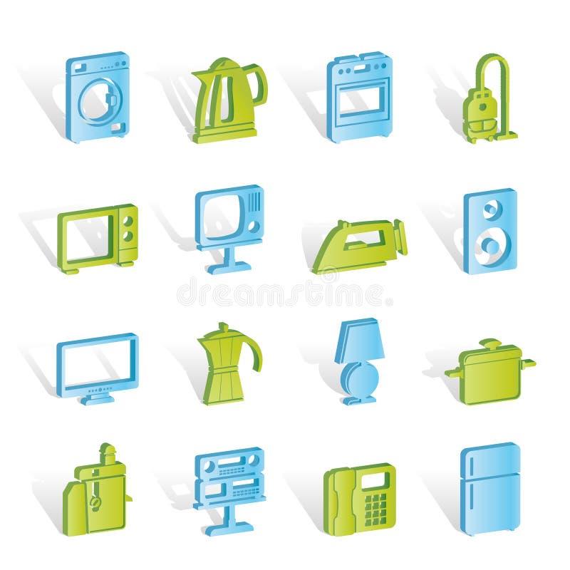 De apparatuur van het huis pictogrammen vector illustratie