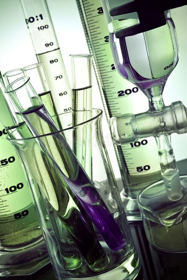 De apparatuur van het laboratorium royalty-vrije stock afbeeldingen