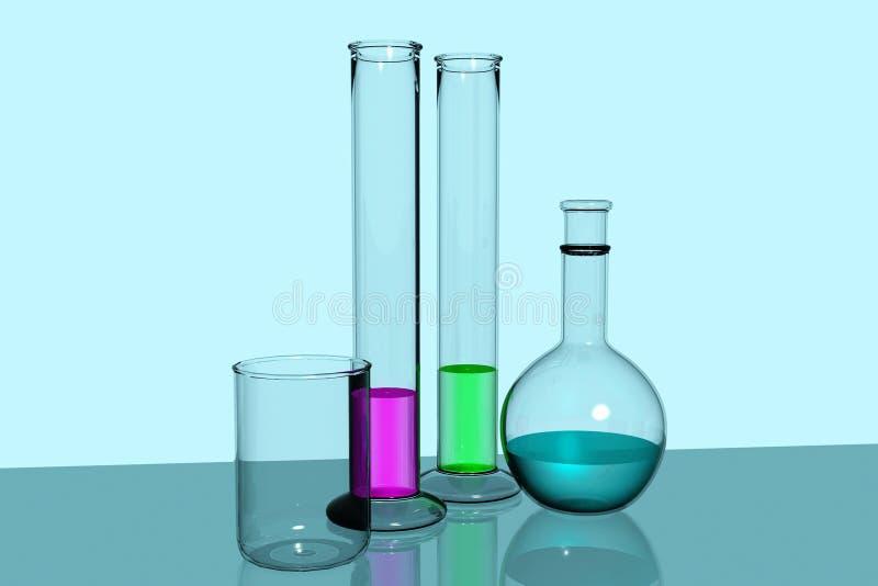 De apparatuur van het laboratorium stock illustratie
