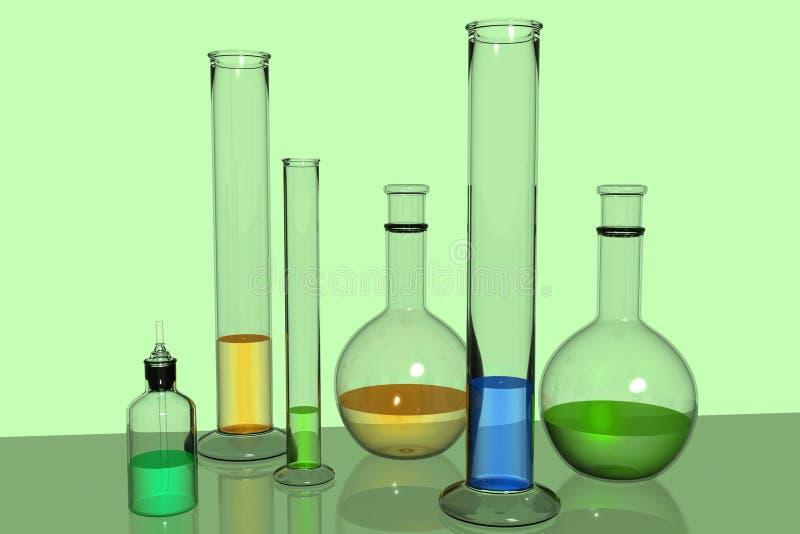 De apparatuur van het laboratorium royalty-vrije illustratie