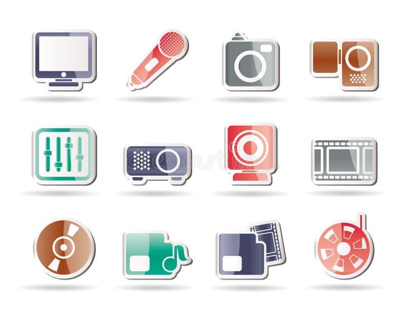 De apparatuur van media pictogrammen royalty-vrije illustratie