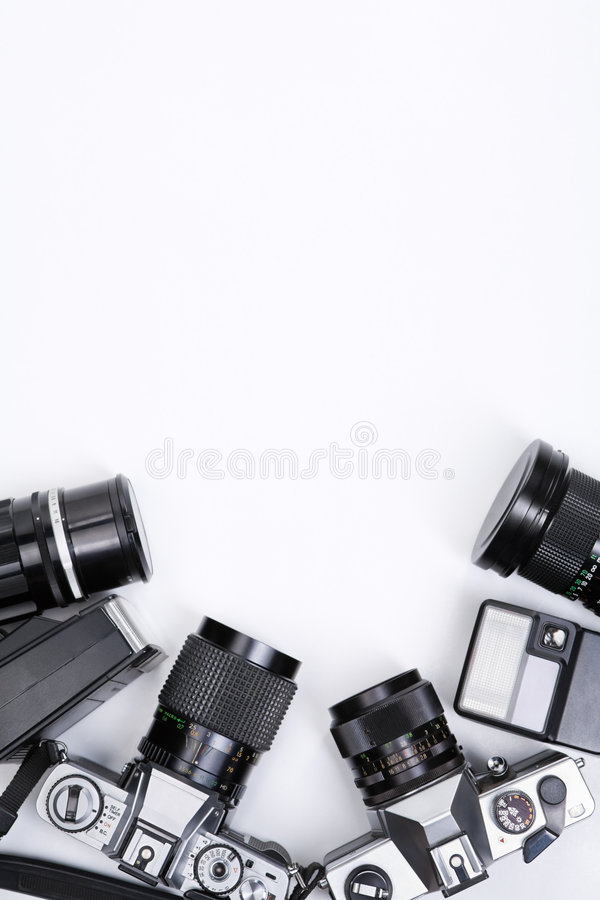 De apparatuur van Photojournalism frame stock foto