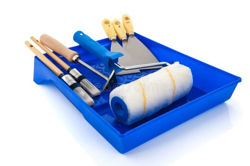 De apparatuur van schilders stock afbeelding