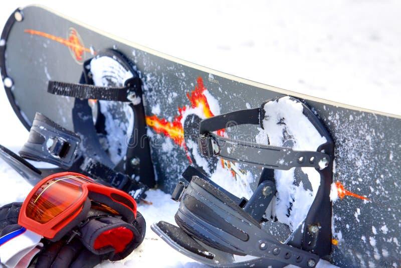 De apparatuur van Snowboard stock foto