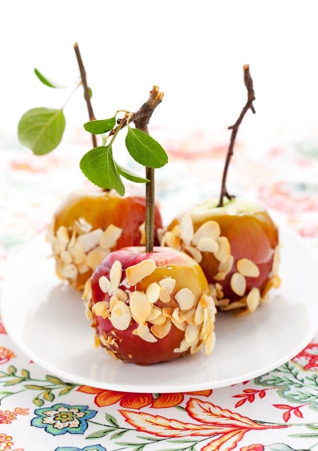 De appelen van de karamel stock fotografie