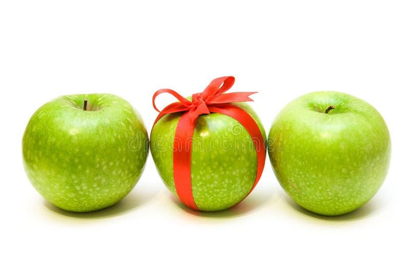 De appelen van de rij royalty-vrije stock afbeelding
