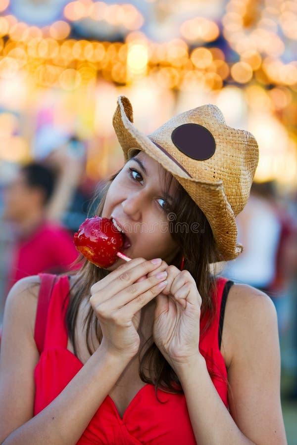 De appelsnack van het suikergoed stock afbeelding