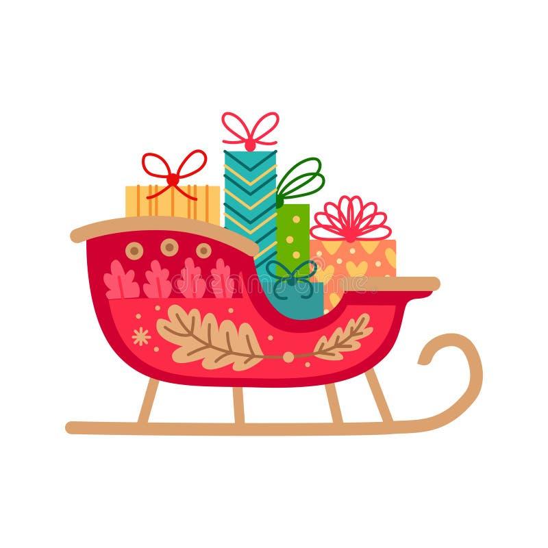 De ar enig vlak pictogram van de Kerstmiskerstman Vector royalty-vrije illustratie
