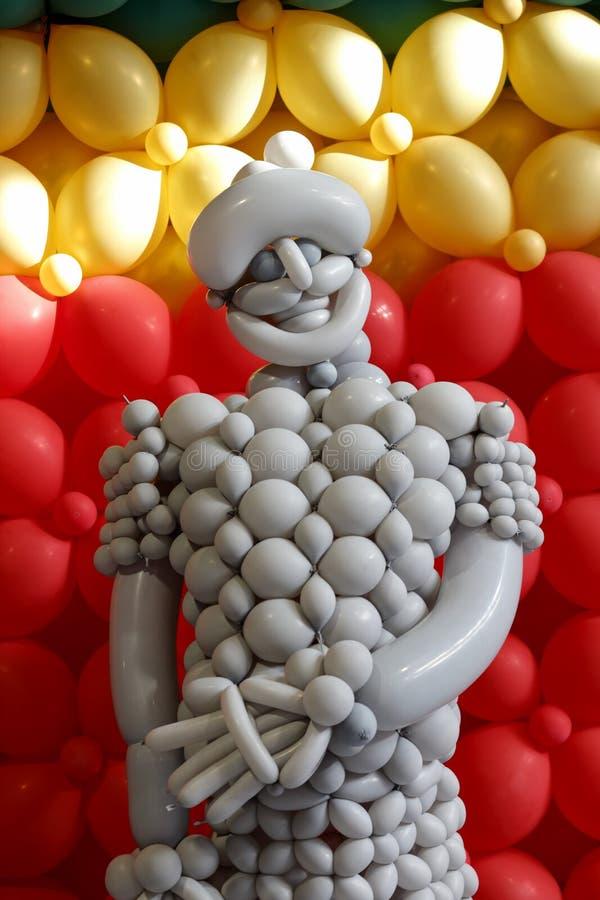 De Arabische strijder van de pretballon stock afbeeldingen