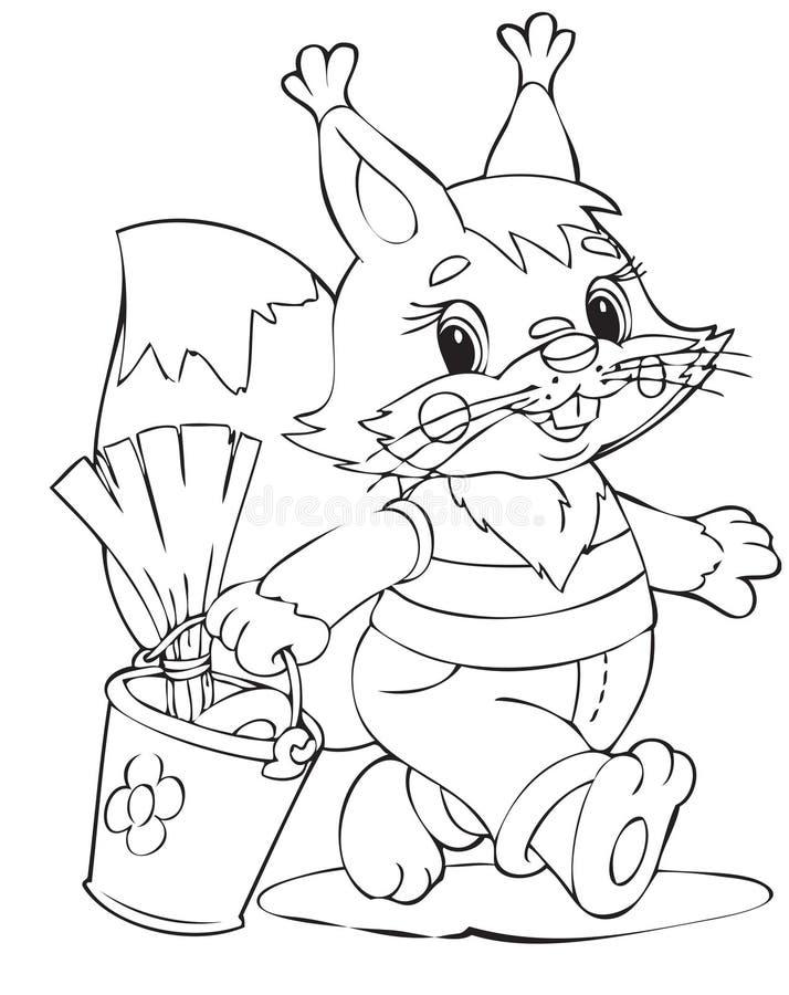 De arbeider van de eekhoorn stock illustratie