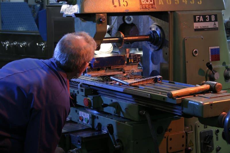 De arbeider van de fabriek stock foto