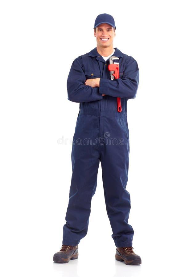De arbeider van de loodgieter royalty-vrije stock afbeelding