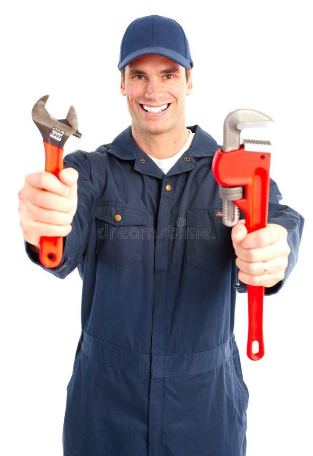 De arbeider van de loodgieter stock afbeelding