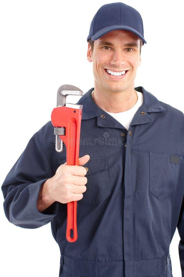 De arbeider van de loodgieter stock fotografie