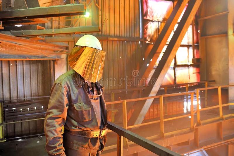 De arbeider van de molen royalty-vrije stock afbeelding