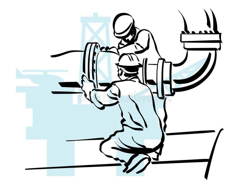De arbeider van de olie vector illustratie
