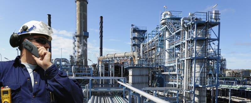 De arbeider van de olie en van het gas royalty-vrije stock afbeelding
