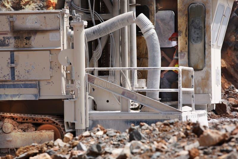 De arbeiders van de cementfabriek stock fotografie
