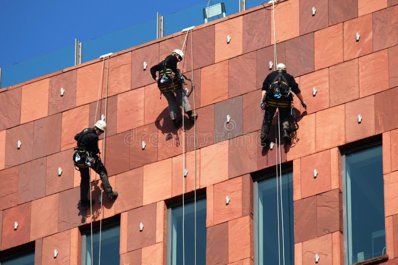 De Arbeiders van de kabeltoegang royalty-vrije stock foto