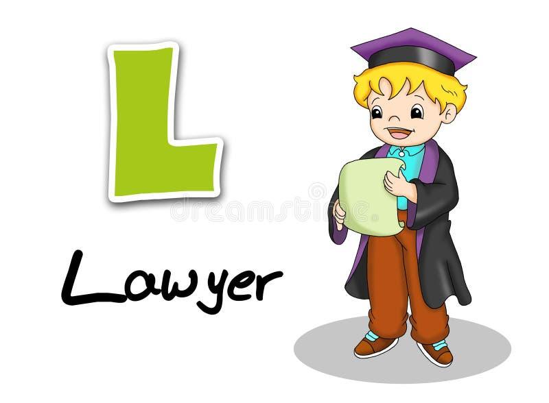De arbeiders van het alfabet - advocaat royalty-vrije illustratie