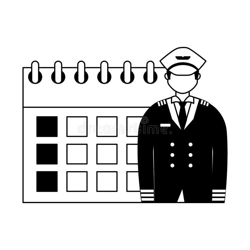 De arbeidsdag van de luchtvaart proefkalender vector illustratie