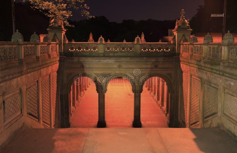 De Arcade van het Terras van Bethesda stock afbeeldingen
