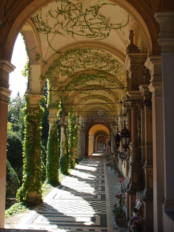 De arcade van Mirogoj royalty-vrije stock fotografie