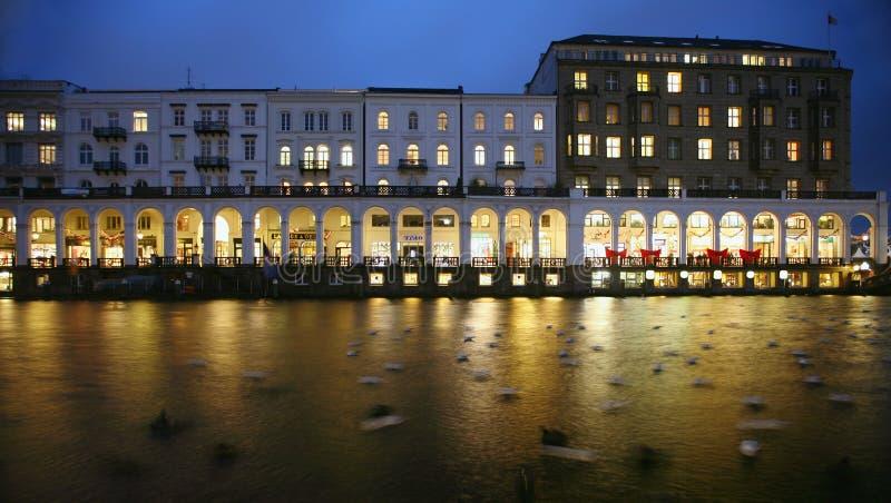 De arcades van Hamburg royalty-vrije stock foto