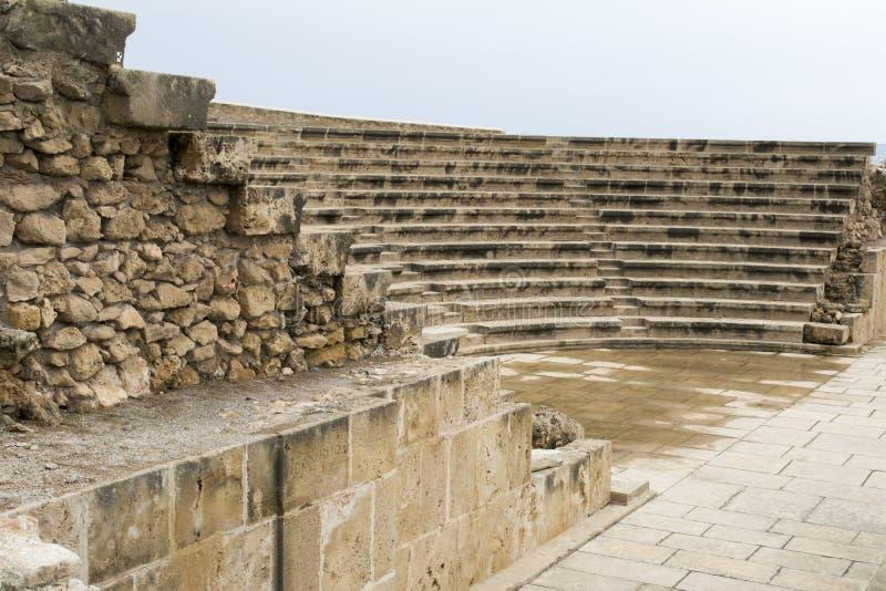 De Archeologische plaats van het Paphostheater, Cyprus royalty-vrije stock foto