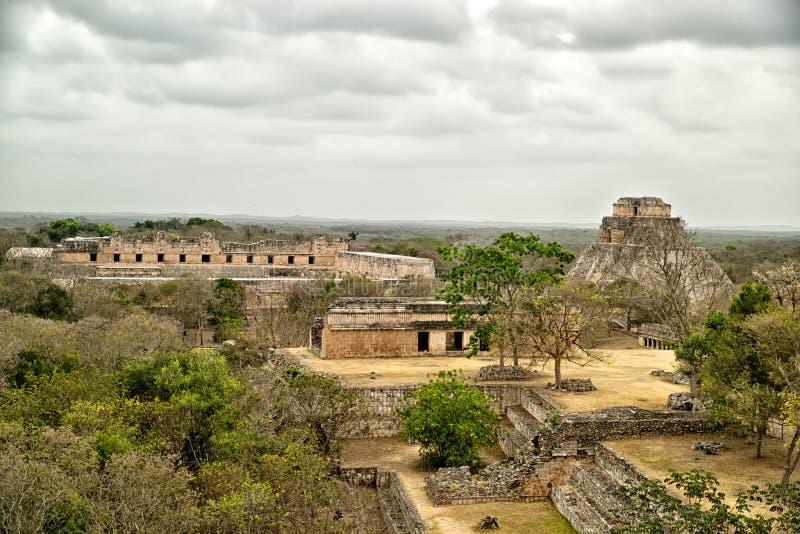 De archeologische plaats van Uxmal royalty-vrije stock afbeelding