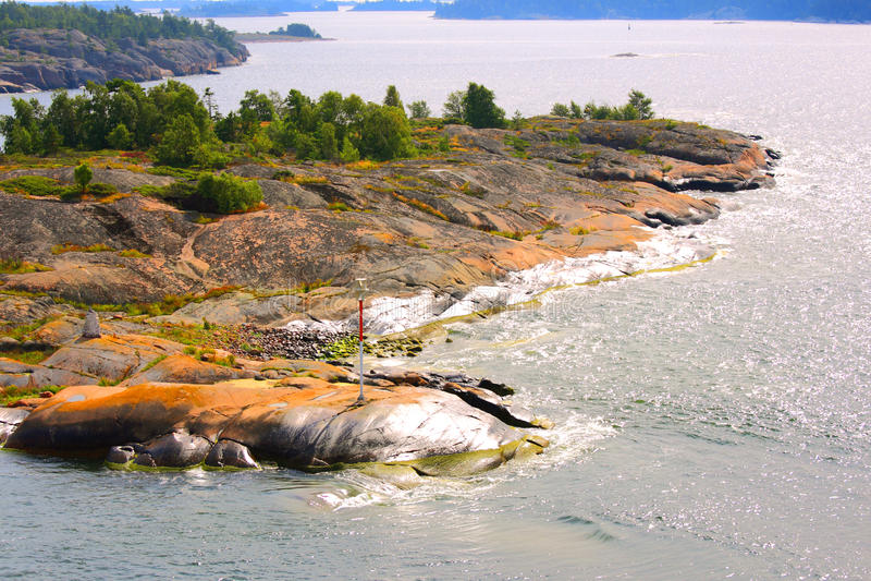 De archipel van Aland stock fotografie