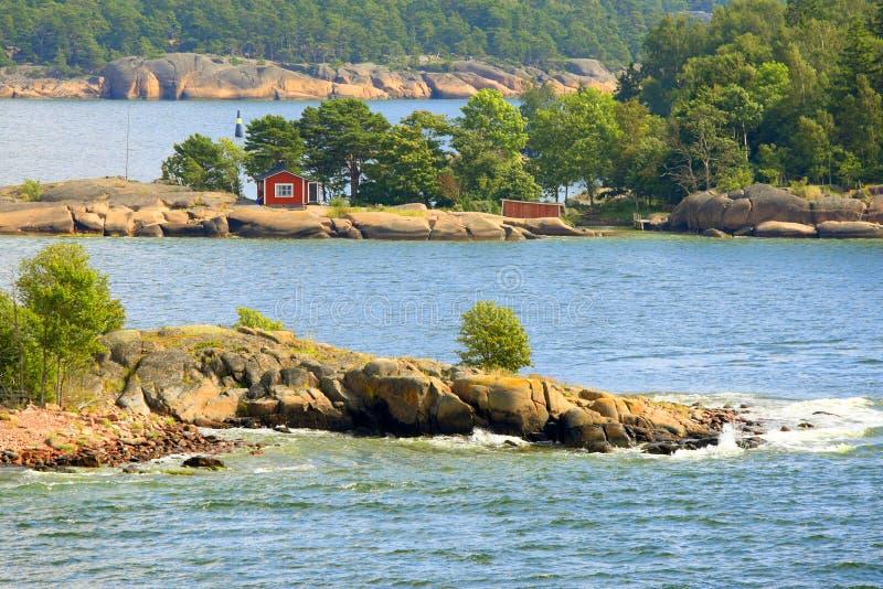 De archipel van Aland in de zomer royalty-vrije stock foto's
