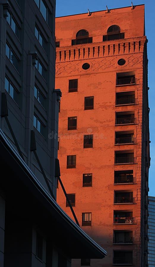 De Architect van Chicago bij Schemer stock fotografie