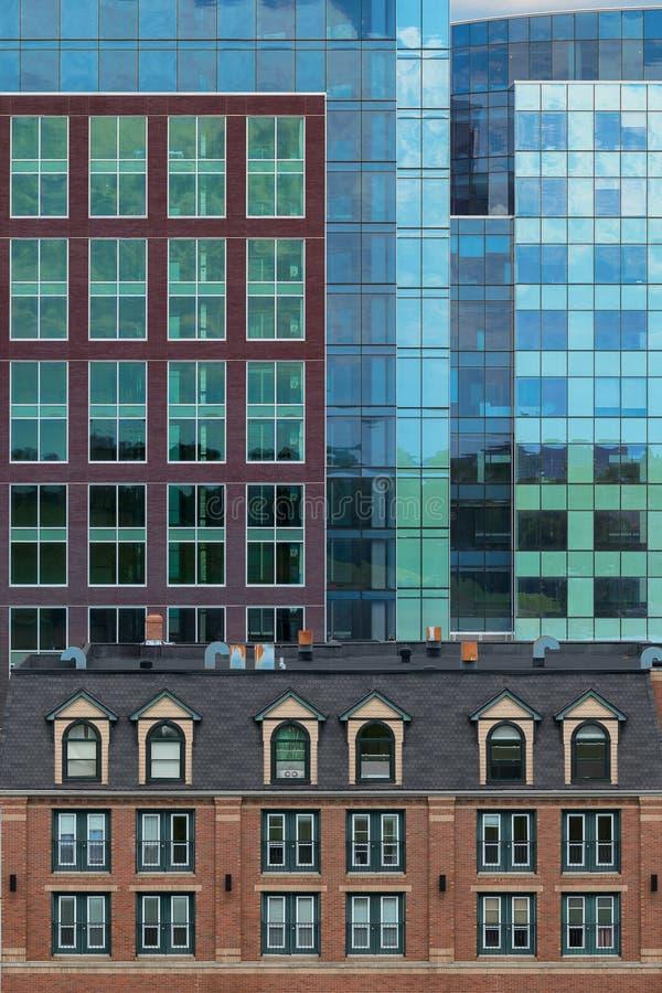 De architecturale samenvatting van de binnenstad van Halifax stock foto