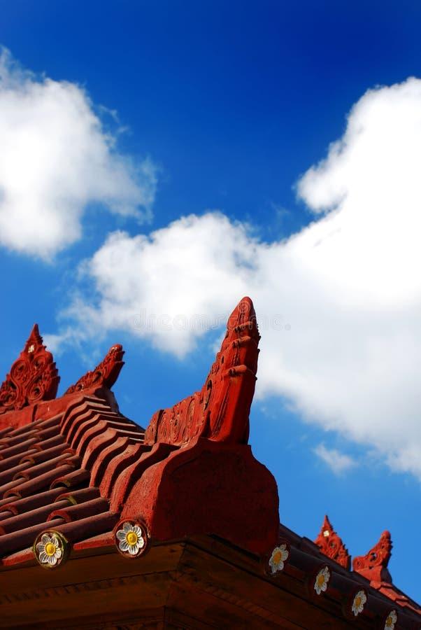 De architectuur van Bali stock afbeeldingen