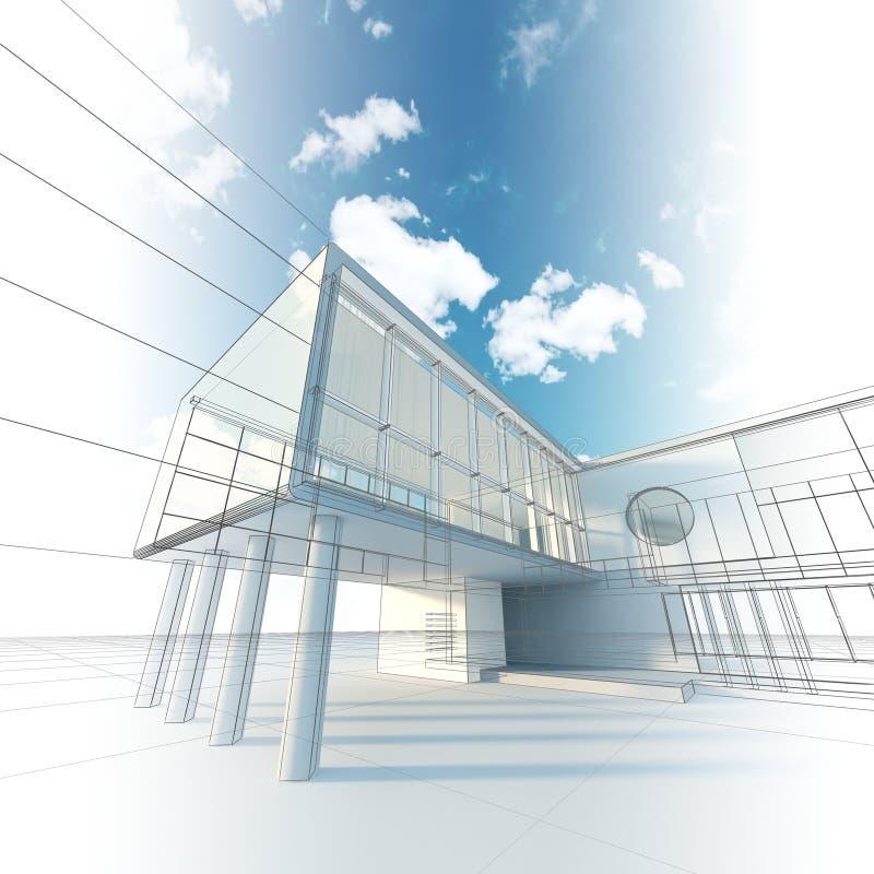 De architectuur van de bouw vector illustratie