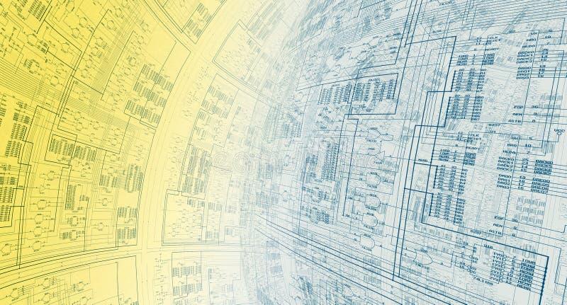 De Architectuur van de informatie vector illustratie