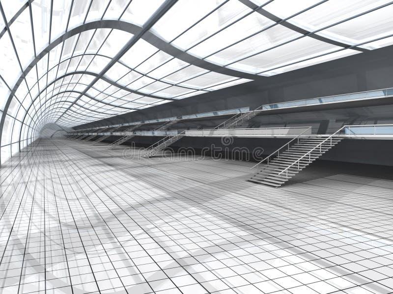 De Architectuur van de luchthaven vector illustratie