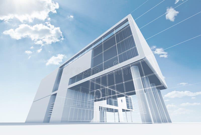De architectuur van het bureau vector illustratie