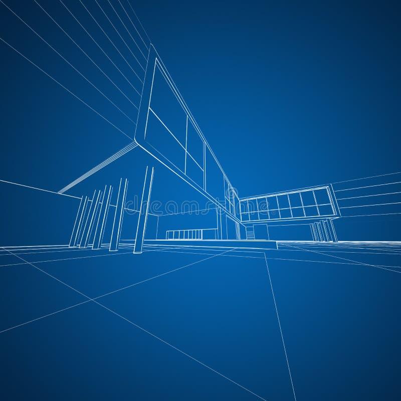 De architectuur van het concept het opstellen stock illustratie