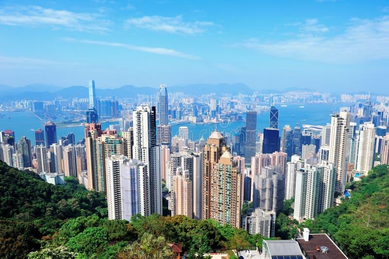 De architectuur van Hongkong stock afbeelding