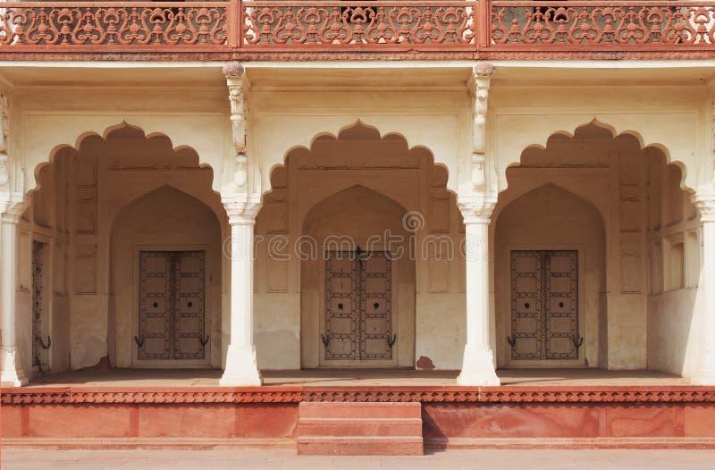 De architectuur van India stock afbeeldingen