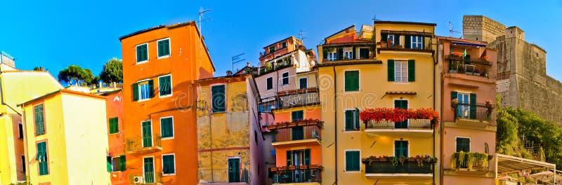 De architectuur van Lerici, Italië stock afbeelding