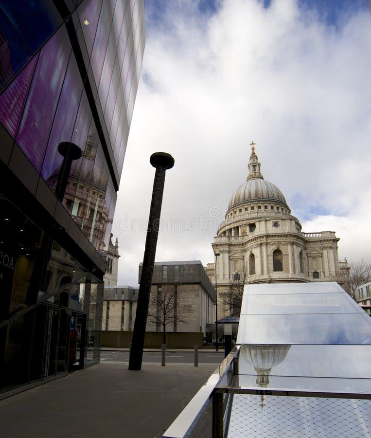 De Architectuur van Londen, st pauls royalty-vrije stock foto's