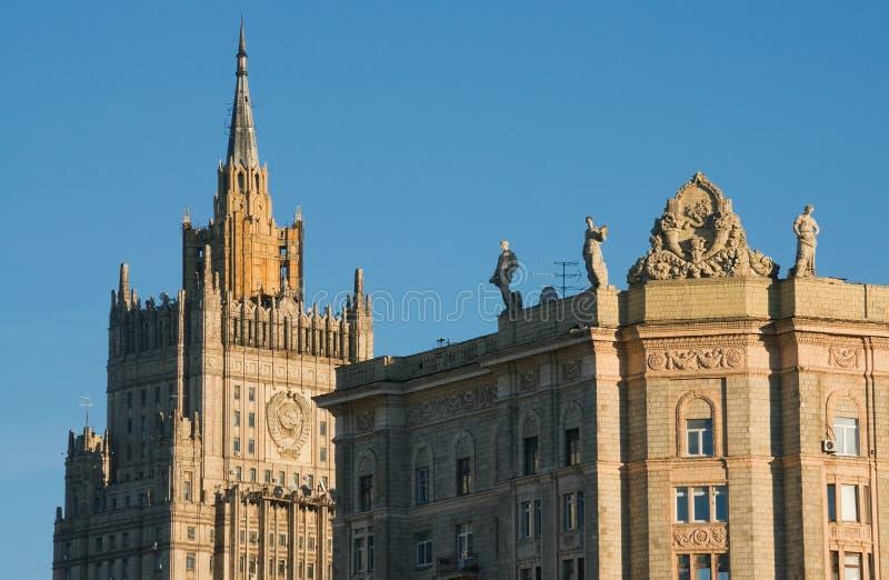 De architectuur van Moskou stock afbeeldingen
