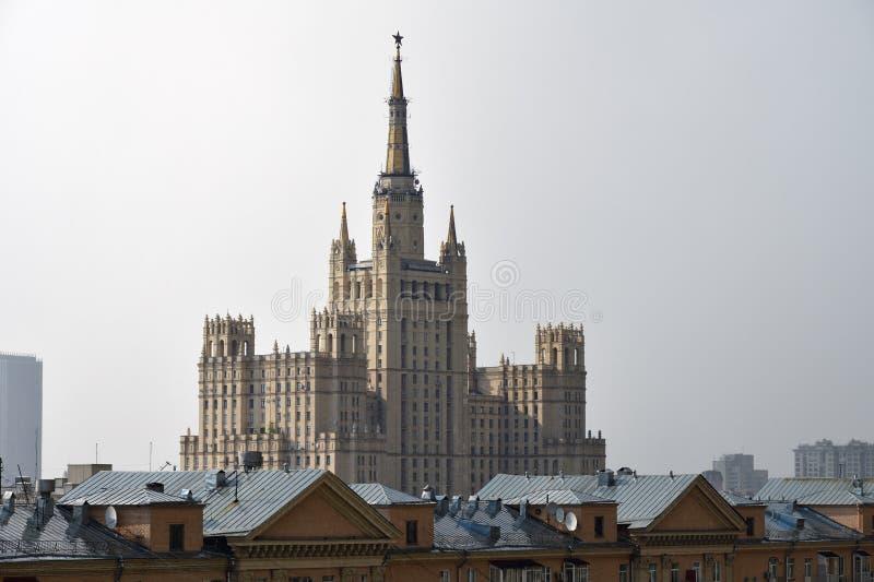 De architectuur van Moskou, het Ministerie van Buitenlandse zaken, Rusland stock afbeeldingen