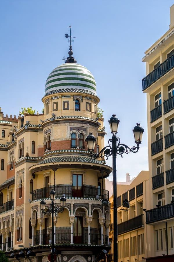 De architectuur van Sevilla stock foto's