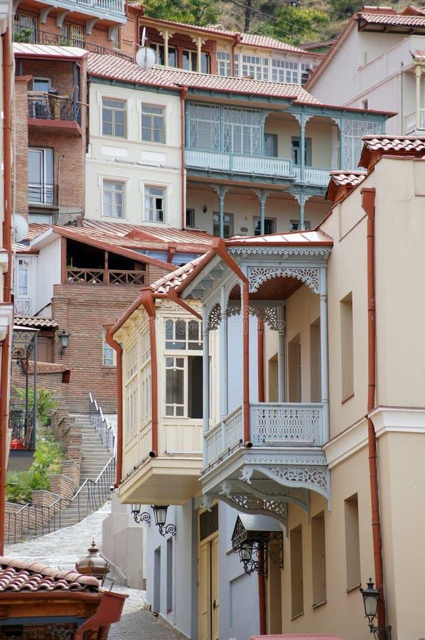 De architectuur van Tbilisi stock afbeeldingen